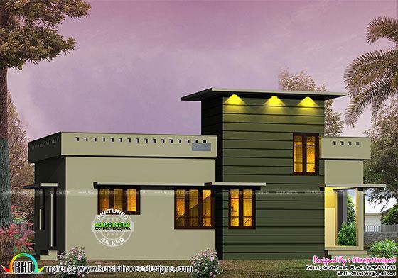 600 Sq Ft Small Contemporary House Kerala Home Design Kerala House Design Luxury House Designs House Plans With Photos