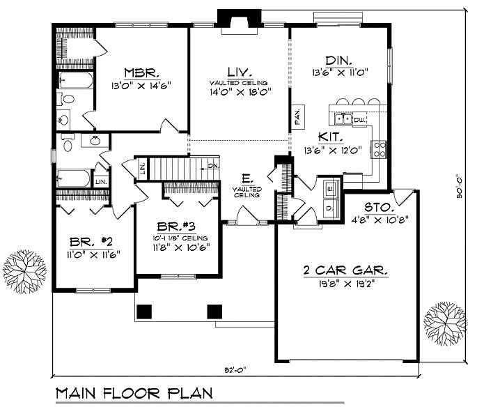 Caribbean House Plans Affordable 3 Bedrooms 2 Baths Colonial Style Designs House Plans Building Plans House House Floor Plans