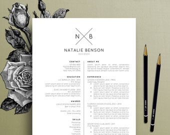 modern resume template cover letter template for word professional resume template design creative resume free resume template - Free Resume And Cover Letter Templates