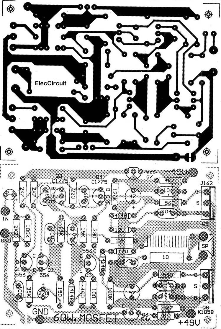 First simple mosfet amplifier circuit by K134+J49 | Pinterest | Circuits