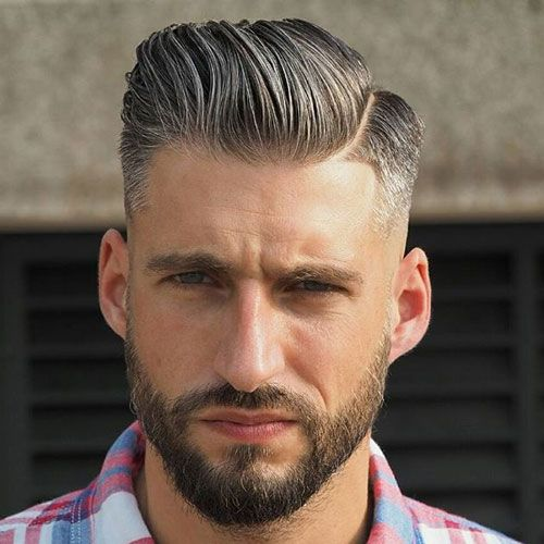 Low Taper Fade Comb Over With Part And Beard  Http://coffeespoonslytherin.tumblr.com/post/157379508247/pixie Haircuts For Women  Over 60 Short