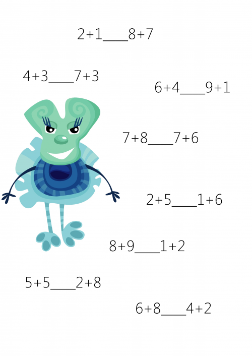 Comparison For 1st Grade 2 Math Worksheets And Math Worksheets