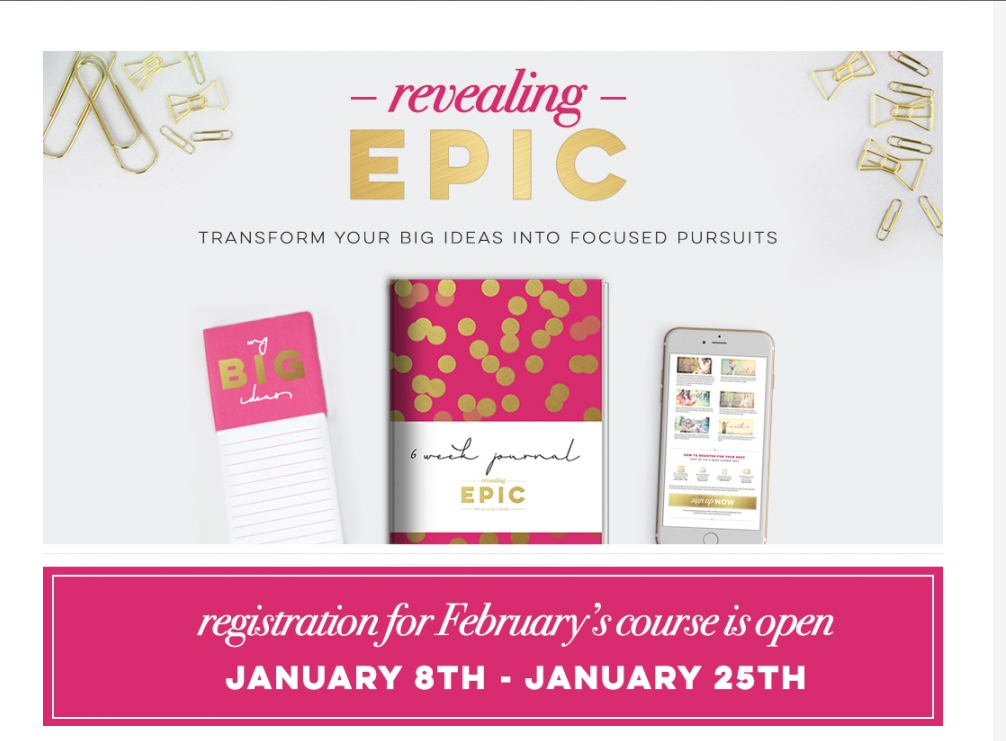 Caitlyn Jeffery of The Photographer's Sidekick is hosting a small group for photographers (for FREE) to go through Alicia Caine's latest course: Revealing EPIC - will you join us?  Registration ends this Sunday, January 25th!  http://caitlynjeffery.com/2015/01/19/revealing-epic-small-group/