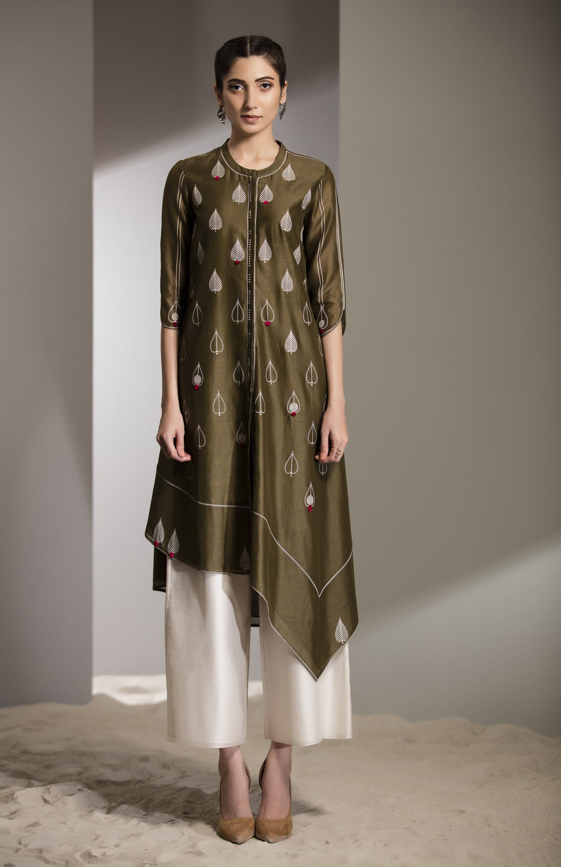 Photo of Olive Screen Printed Tunic