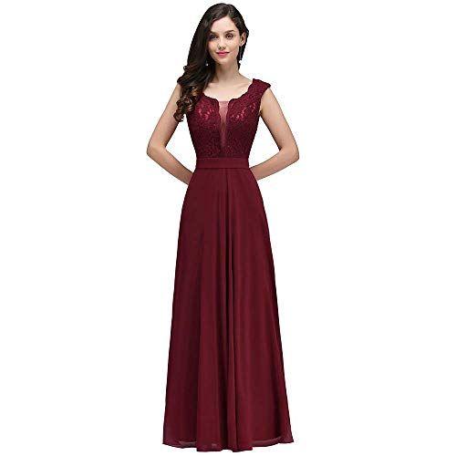 Abendkleider Weinrot - Valentins Day in 2020   Abendkleid ...