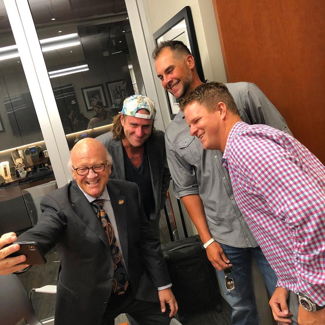 Our Hall Of Fame Broadcaster With Our Newest Wall Of Famers Brian Wilson Ryan Vogelsong Matt Cai Sf Giants Baseball Giants Baseball Minnesota Twins Baseball