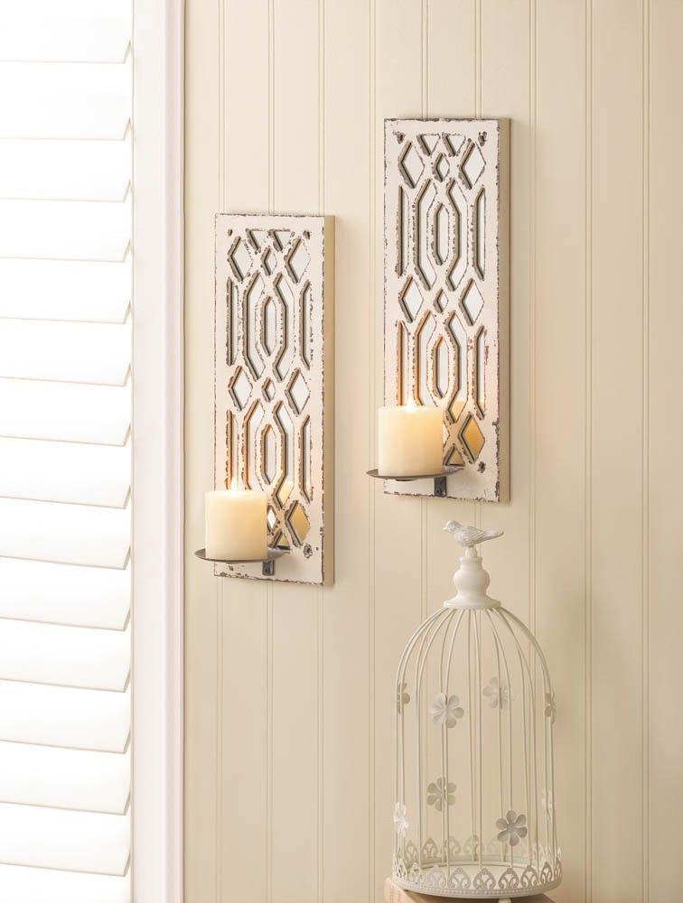 Candle Sconces Wall Decor deco mirror wall candle sconce set | sconces | pinterest | walls