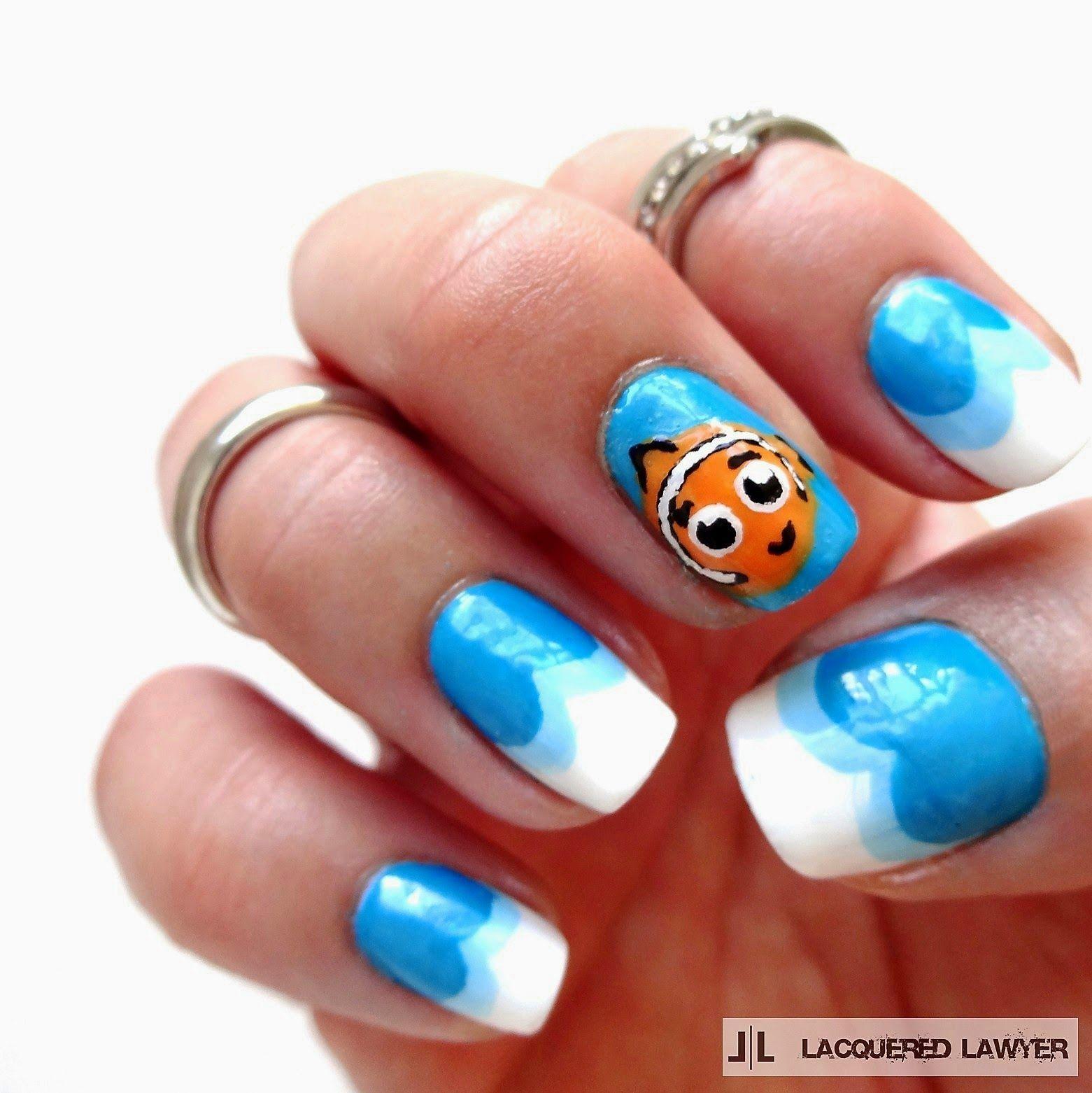 Finding Nemo Nails | Karneval und Nageldesign