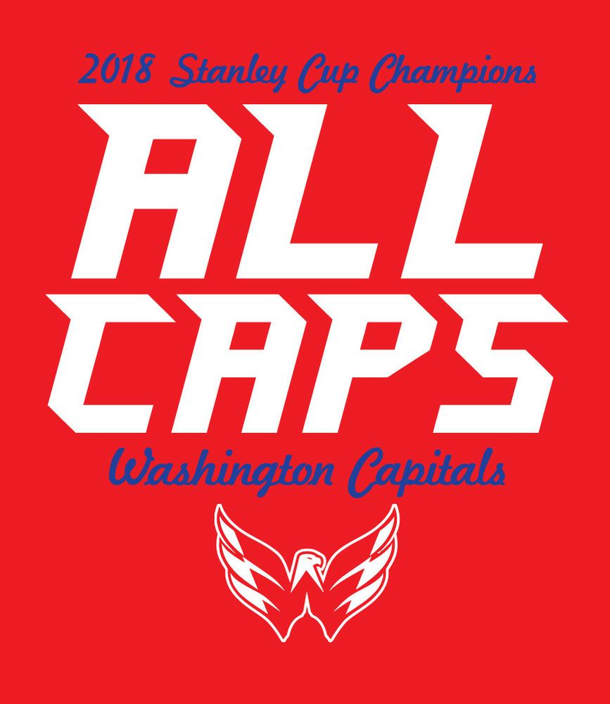 ALL CAPS Washington Capitals 2018 Stanley Cup Champions shirt Caps Champs  NHL ccb717a7a