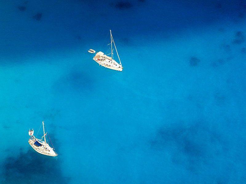 Endless Blue, endless #Greece ! #YachtcharterGriechenland #YachtcharterIonischesMeer