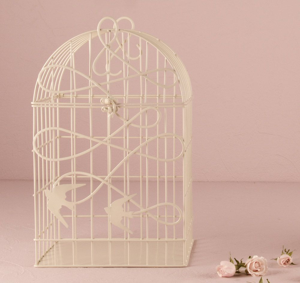 Modern Ivory Birdcage Wedding Card Holder Birdcage Card Holder
