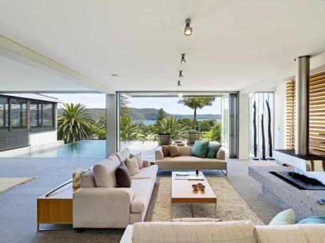 Maison moderne avec vue sur lu0027océan Idées déco pour votre - idee deco maison moderne