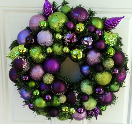 christmas 2017 purple and lime green