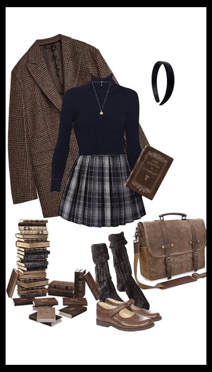 dark academia aesthetic outfit