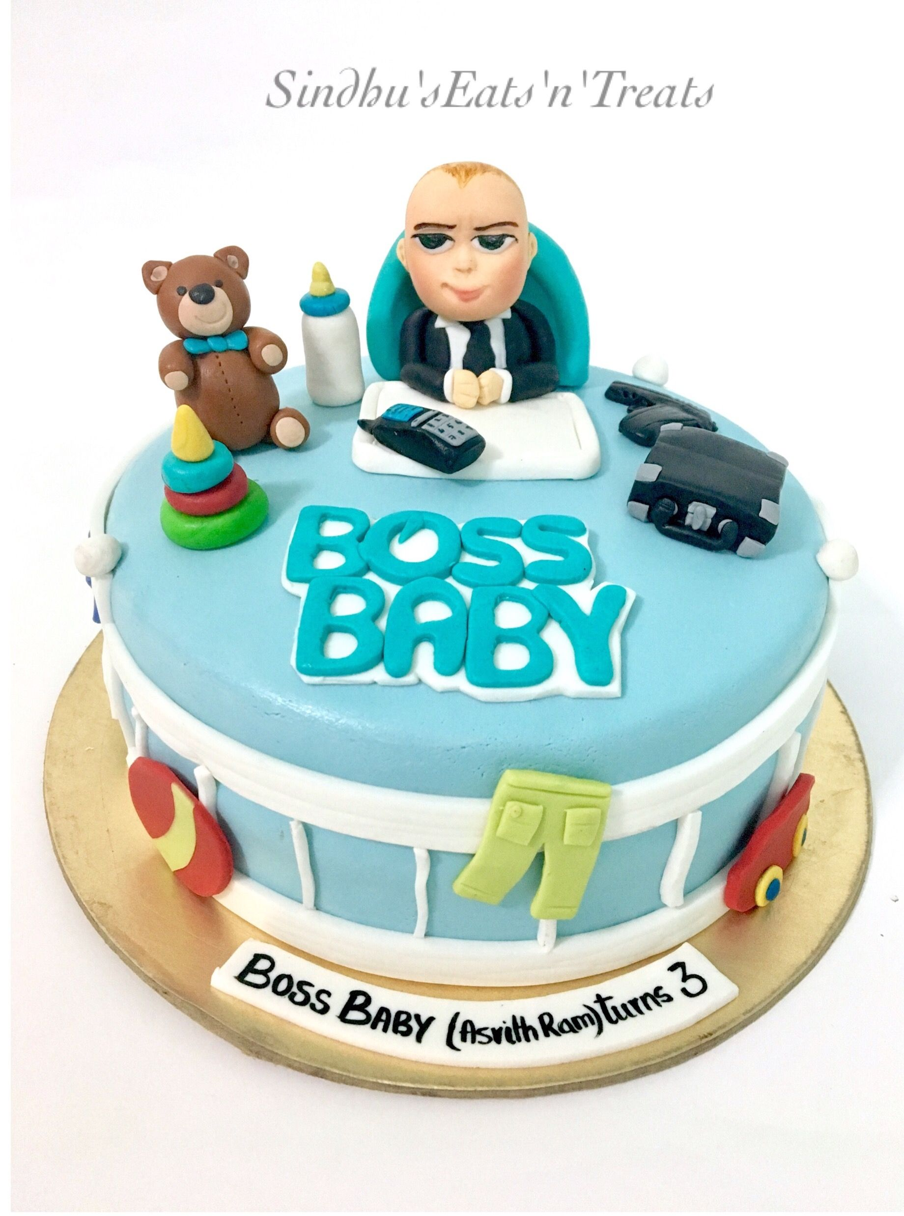 Boss Baby Theme Cake Cakes For Kids In 2019 Baby Birthday Cakes