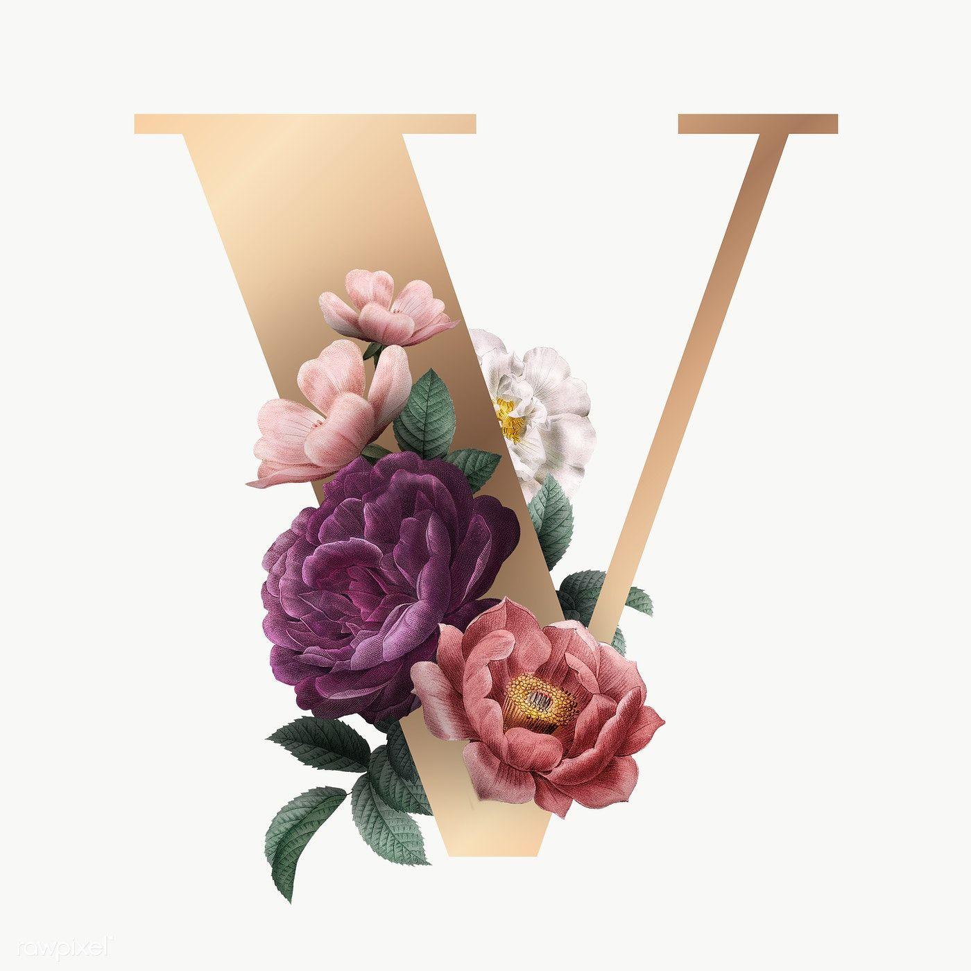 Download Premium Png Of Classic And Elegant Floral Alphabet Font Letter V Lettering Alphabet Fonts Lettering Fonts Fonts Alphabet