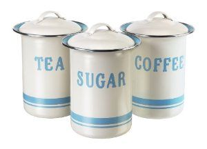 Jamie Oliver Coffee Tea Sugar Tin Canister Set Co Uk Kitchen Home