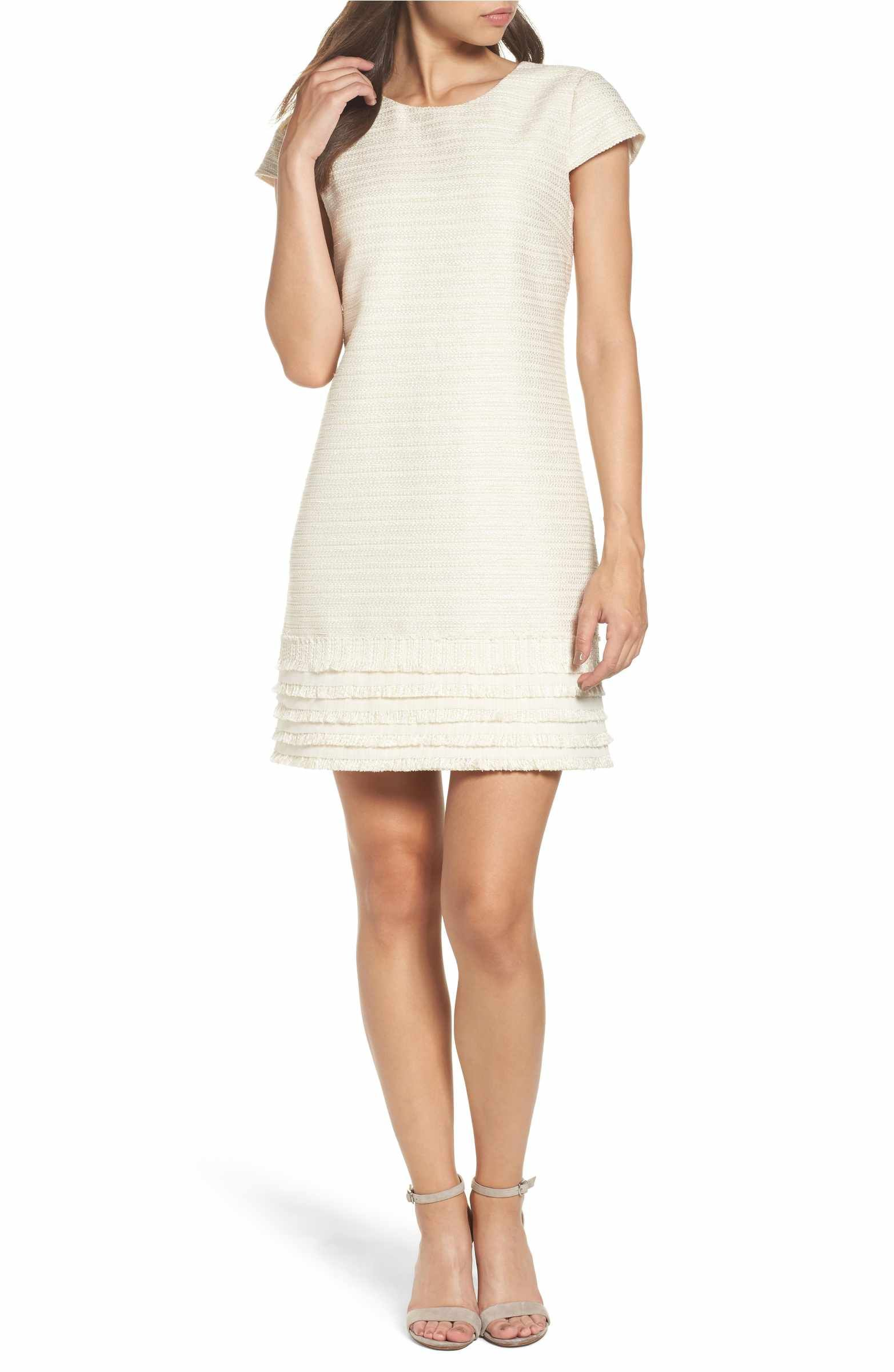 Vince Camuto Fringed Tweed Shift Dress Regular Petite Nordstrom Tweed Shift Dress Shift Dress Clothes [ 2400 x 1564 Pixel ]