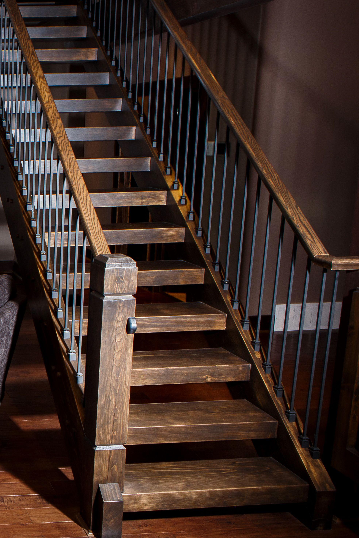 Best Custom Wood Stairs Custom Interiors Whitefish Cottage 400 x 300
