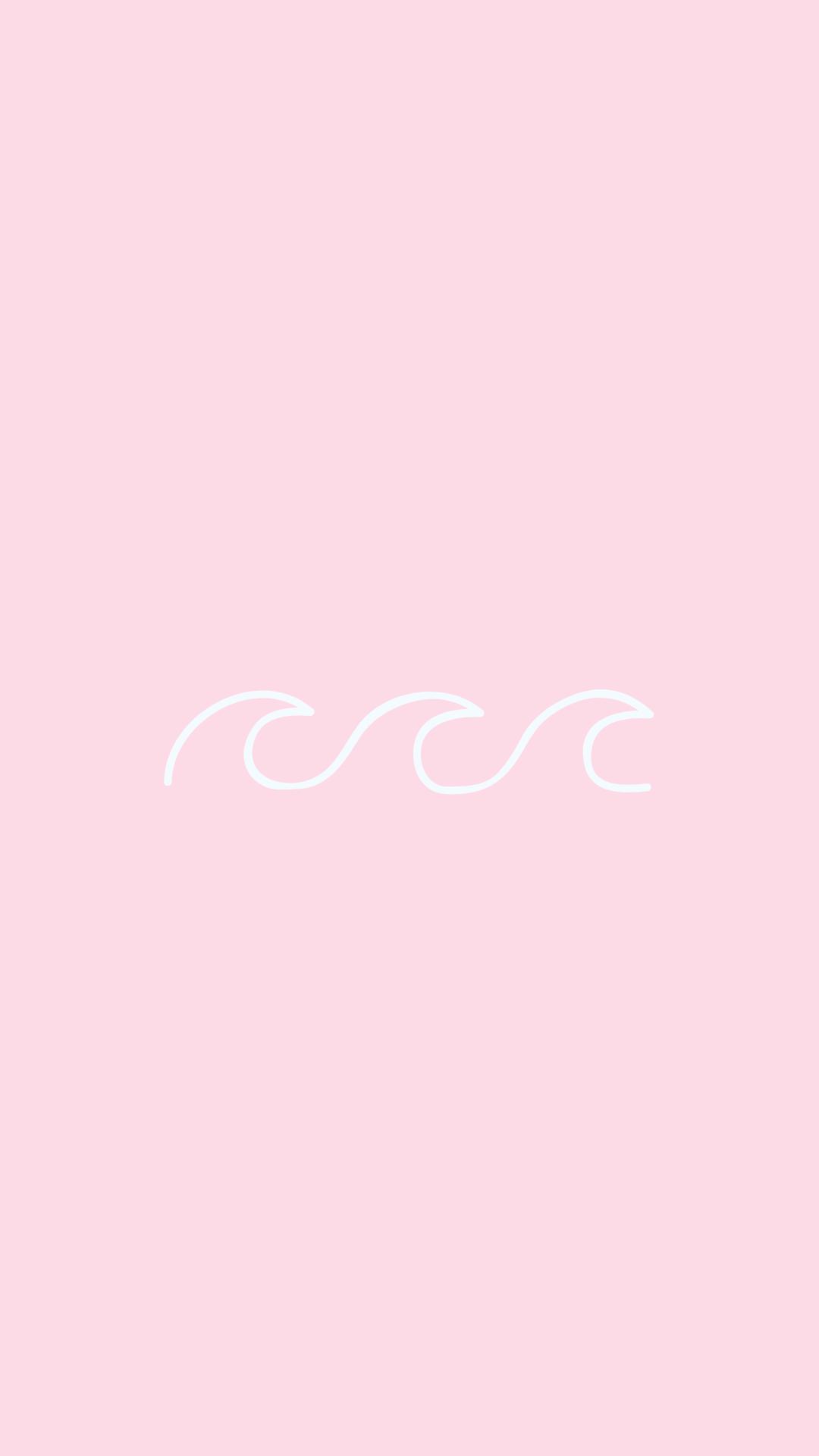 Light Pink Aesthetic Wave Phone Wallpaper