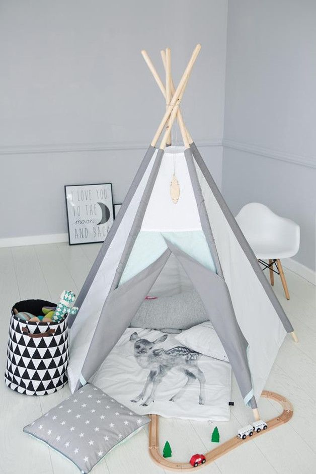 Großes Indianerzelt Fürs Kinderzimmer, Weihnachtsgeschenke Für Kinder /  Teepee For Nursery, Christmas Gift Idea Made By LittleNomad Via DaWanda.com
