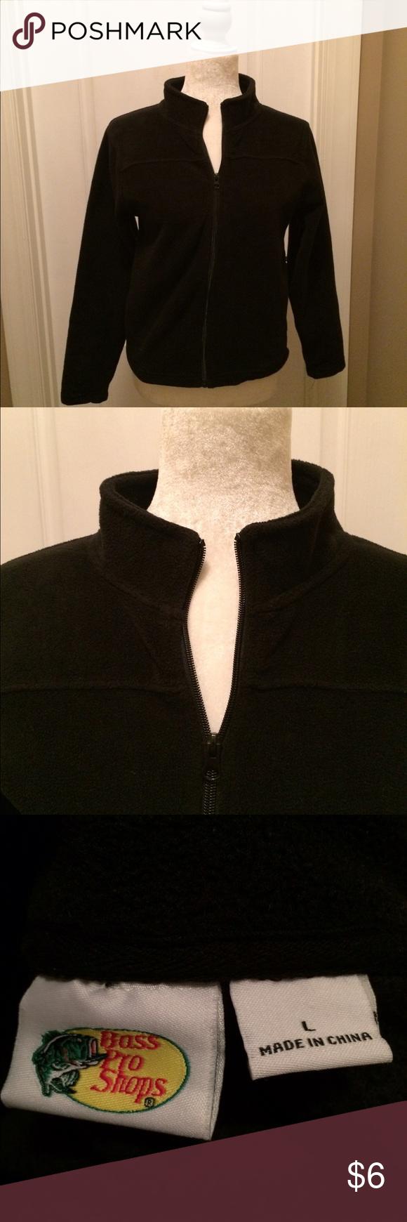 EUC black fleece jacket BASS PRO fleece jacket, excellent condition, size L BASS PRO Jackets & Coats