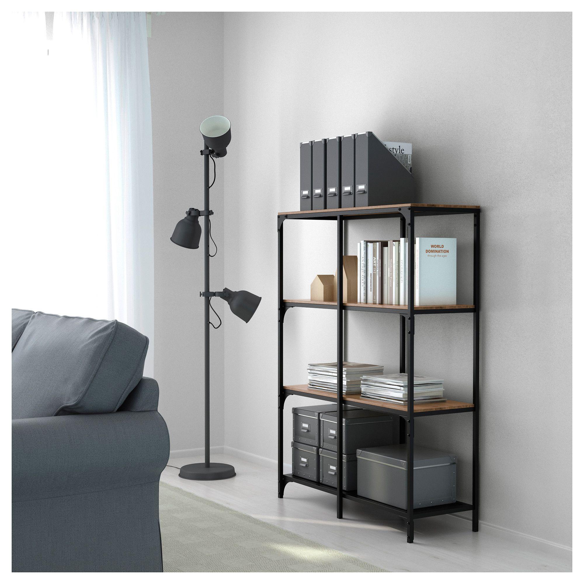 Fjallbo Shelf Unit Black 39 3 8x53 1 2 Ikea Shelving Unit