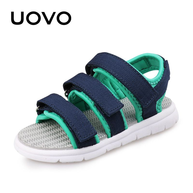 Children/'s Casual Flat Heels Sandals With LED Light Slip-resistant Leather Shoes