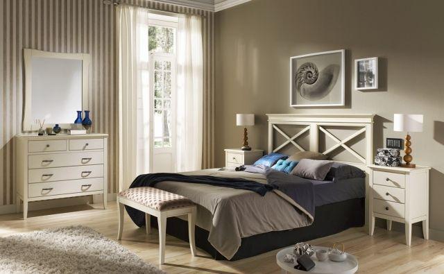 wandfarbe schlafzimmer taupe vertikale streifen Einrichtungs - schlafzimmer braun wei