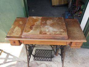 Come restaurare una macchina da cucire monete pinterest com restaurato restaurare mobili - Tavoli per macchine da cucire ...