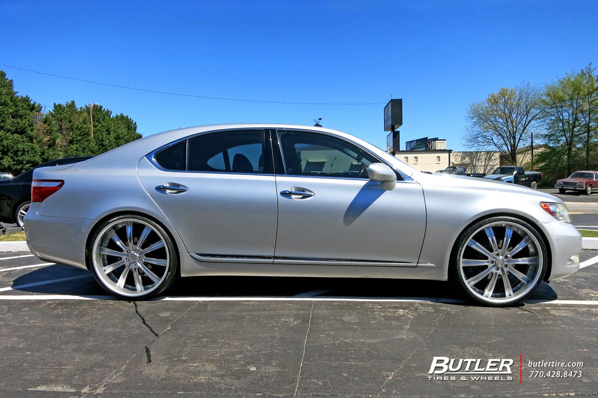 Lexus LS460 with 24in Vellano VTI Wheels  fly autos  Pinterest
