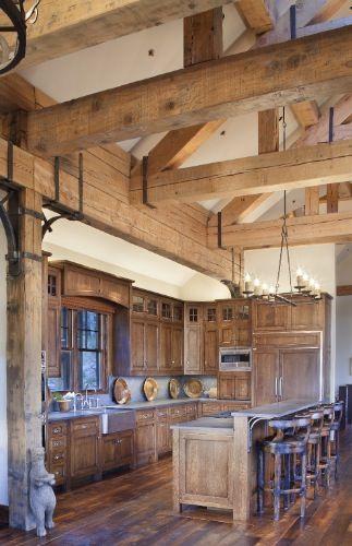 Massive beam structure in this open concept kitchen by:  Daniel J. Murphy Architect, PC :: Portfolio