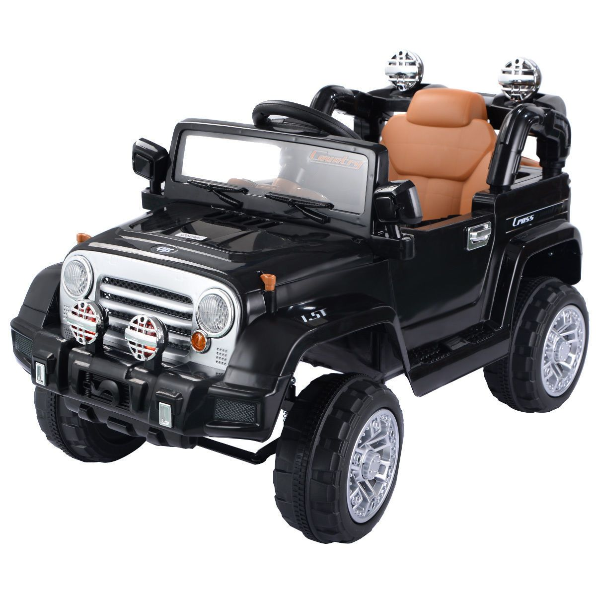 12 V Kids Ride On Truck With Mp3 Led Lights Toys Games