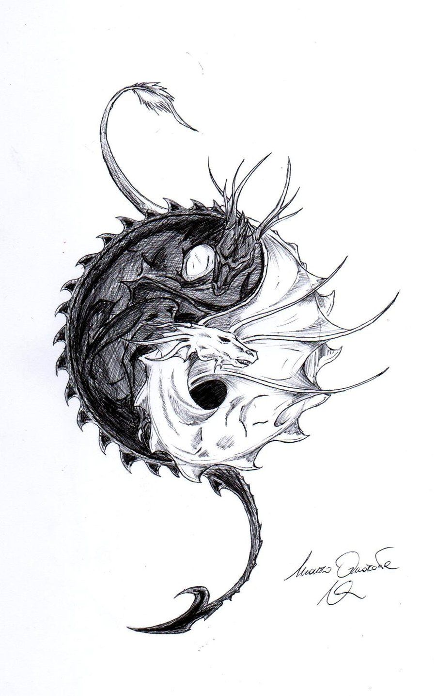 Yin and yang dragons by taylovestwilightiantart on yin and yang dragons by taylovestwilightiantart on deviantart dragons pinterest dragons deviantart and tattoo biocorpaavc