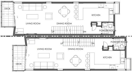 small lot subdivision skinny floor plan Vancouver Ave Apts