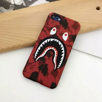 size 40 06edb 8c2b0 Fashion Bape Shark Case For iPhone 7 6 6s Plus Bape Shark Army Phone ...