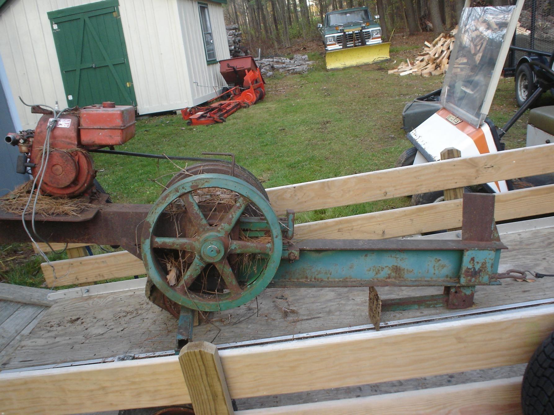 Home built Flywheel Log Splitter. Log splitter