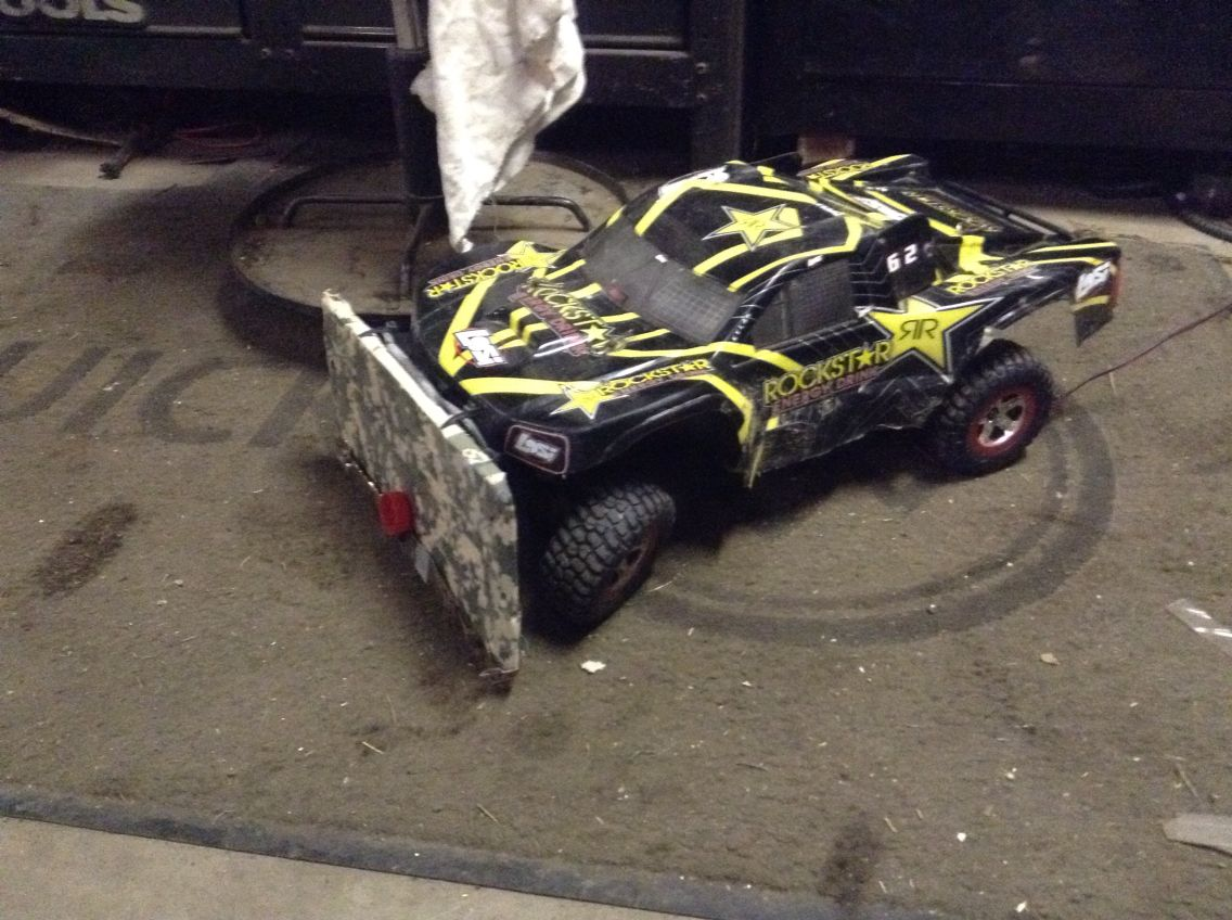 Homemade Traxxas Snow Plow You Need Beer Can Celing Tile Allen Head Wrench And Tape Traxxas Slash Traxxas Snow Plow