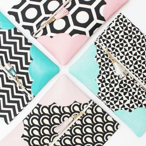 The cutest pastel & monochrome clutch bags. So trendy now!