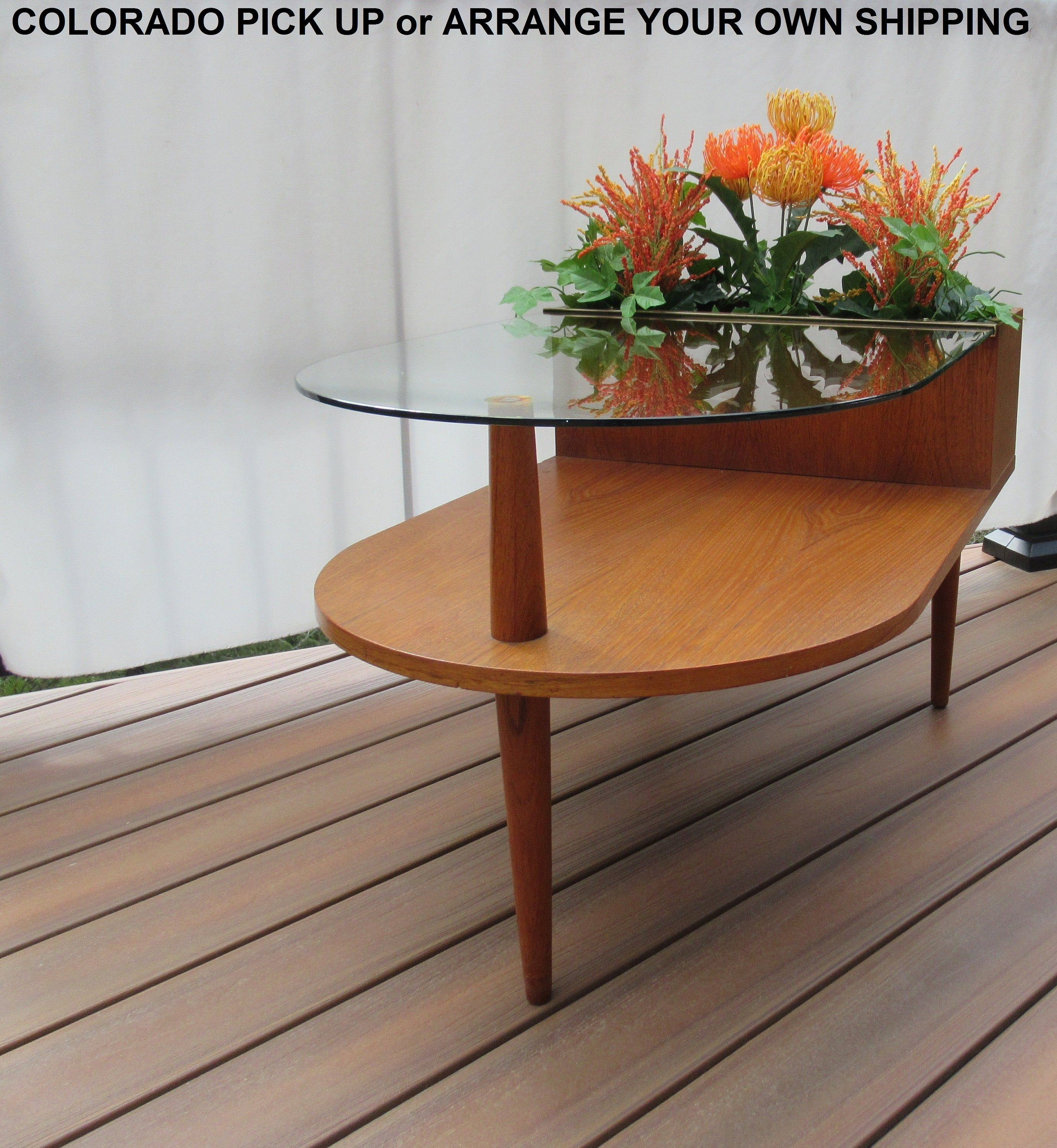 Midcentury Planter End Table By Cfc Silkeborg Danish Midcentury