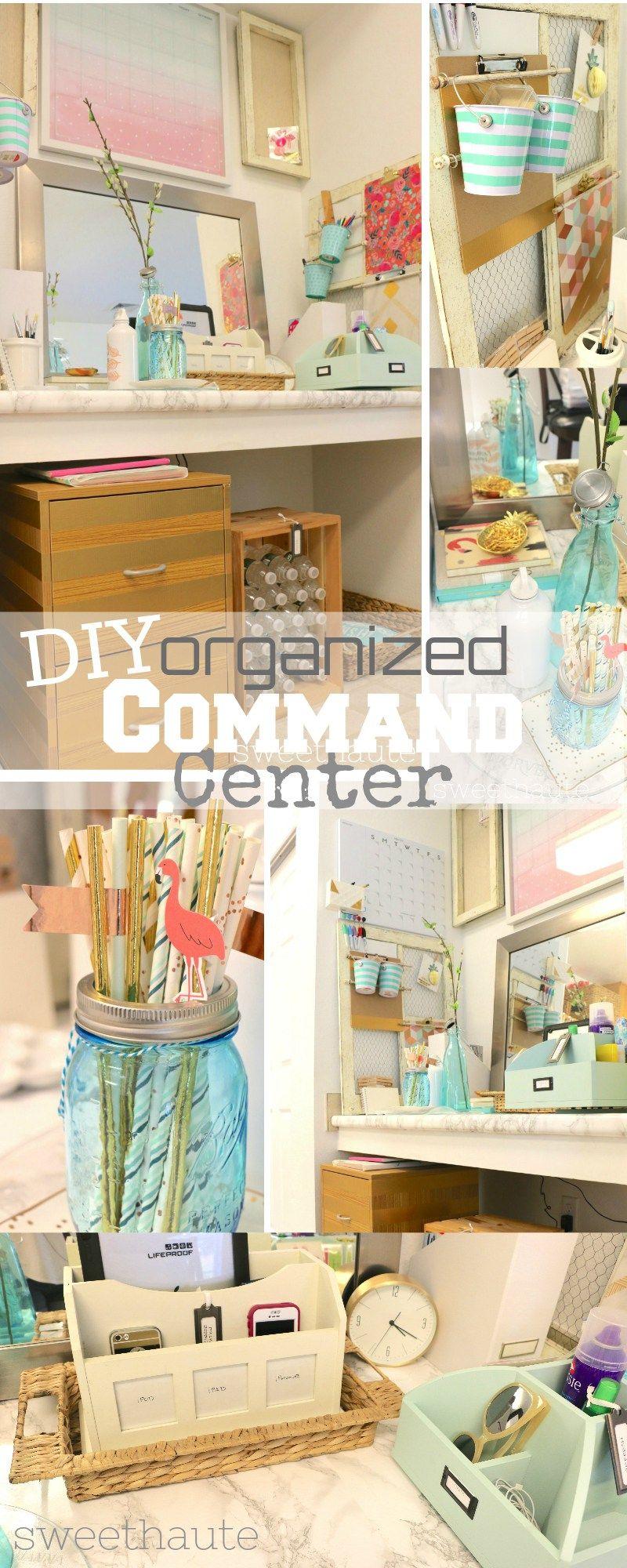 Diy Command Center Organized And Clean Area Diy Home Decor Ideas