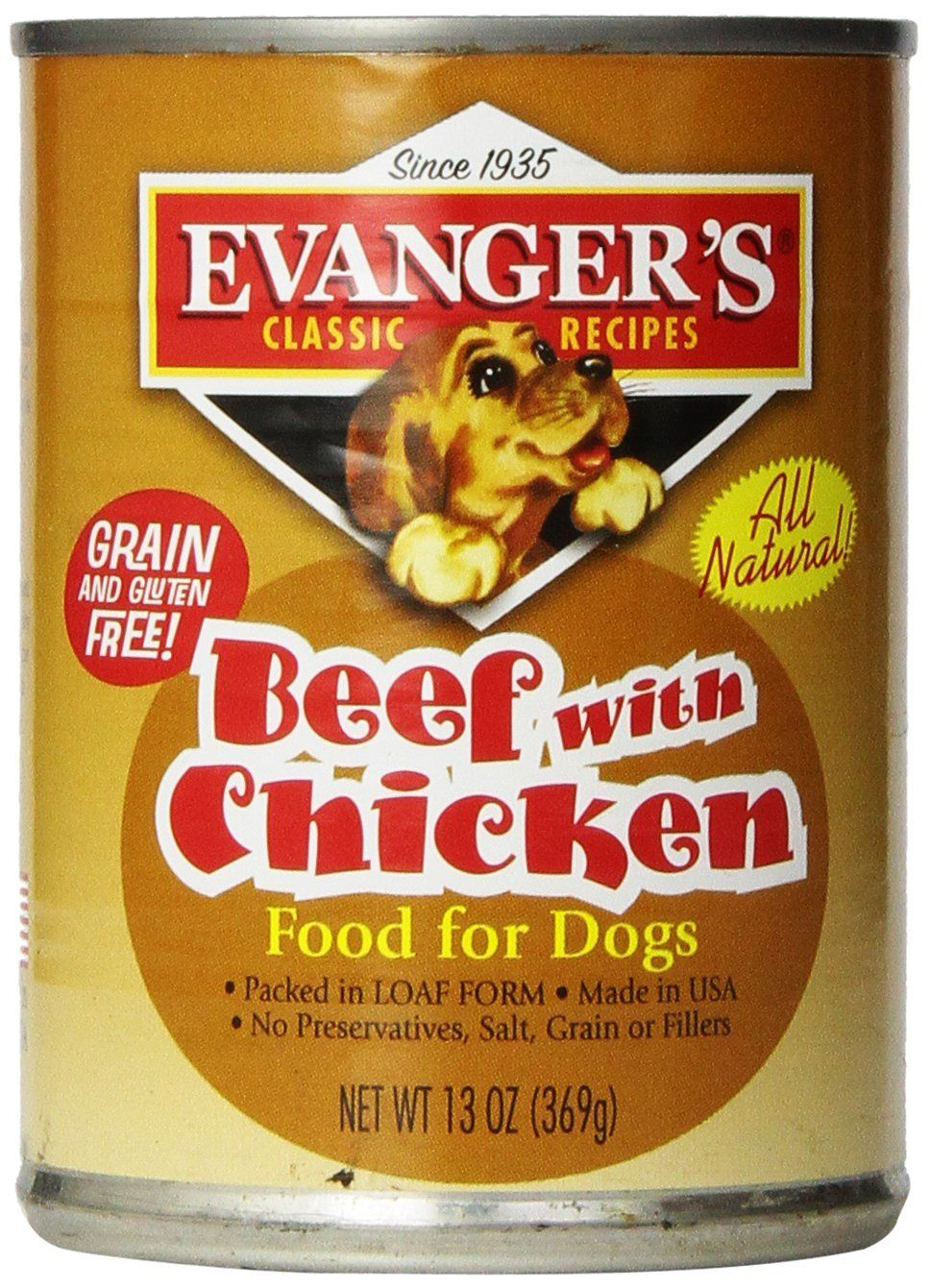Evangers 12pack natural classic beef with chicken
