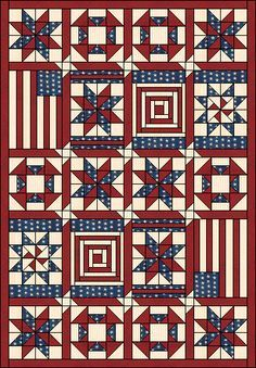 Independence Quilt Pattern. Complete instructions for each block ... : patriotic quilt kits - Adamdwight.com