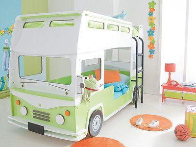 Kinderbett junge bus  Etagenbett Autobett Bussbett Kinderbett Spielbett Autobus Bus Bett ...