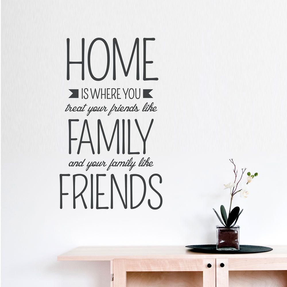Home Is Where...Wall Quote Decal Wall quotes, Home