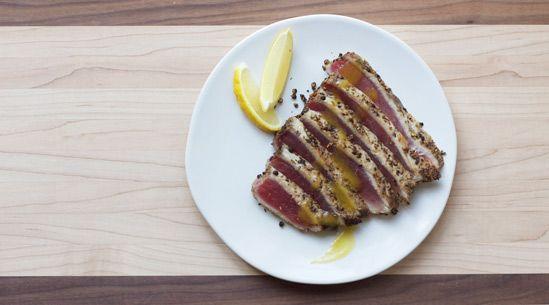 Yellowfin-Tuna Escabeche with Spicy Pineapple Vinaigrette