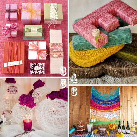 For A Simple And Sweet Monogram Cover Wooden Letters With Yarn In Your Wedding Colors Found On Knack Studios