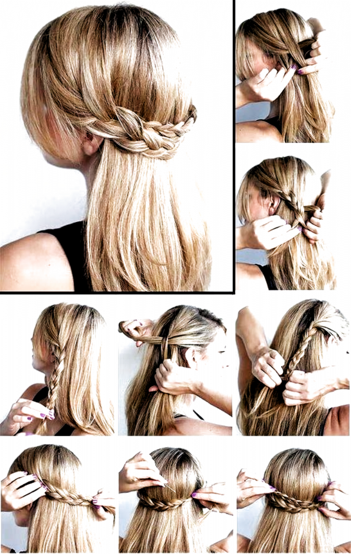 24 Easy Step By Step Hair Tutorials Bafbouf In 2020 Medium Hair Styles Hair Styles Medium Length Hair Styles