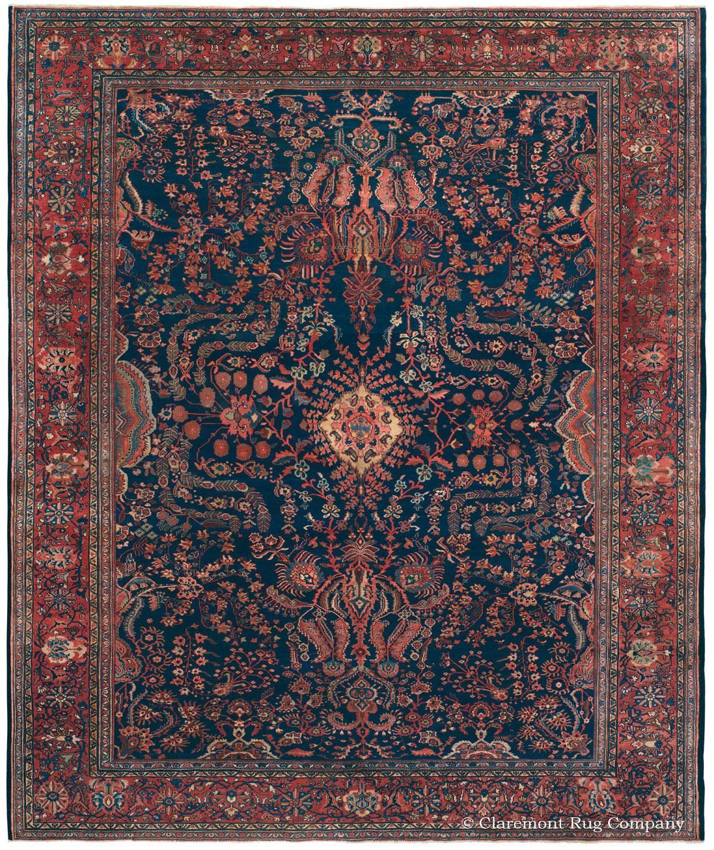 Antique Oriental Carpet Room Size Ferahan Sarouk Antique