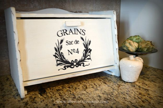 Bread Box With Chalk Paint With Images Vintage Bread